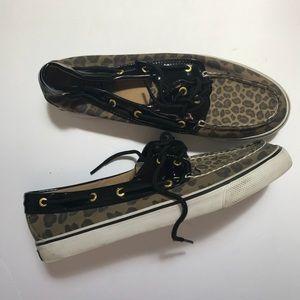 Sperry Top Slider Cheetah Print Boat Shoe